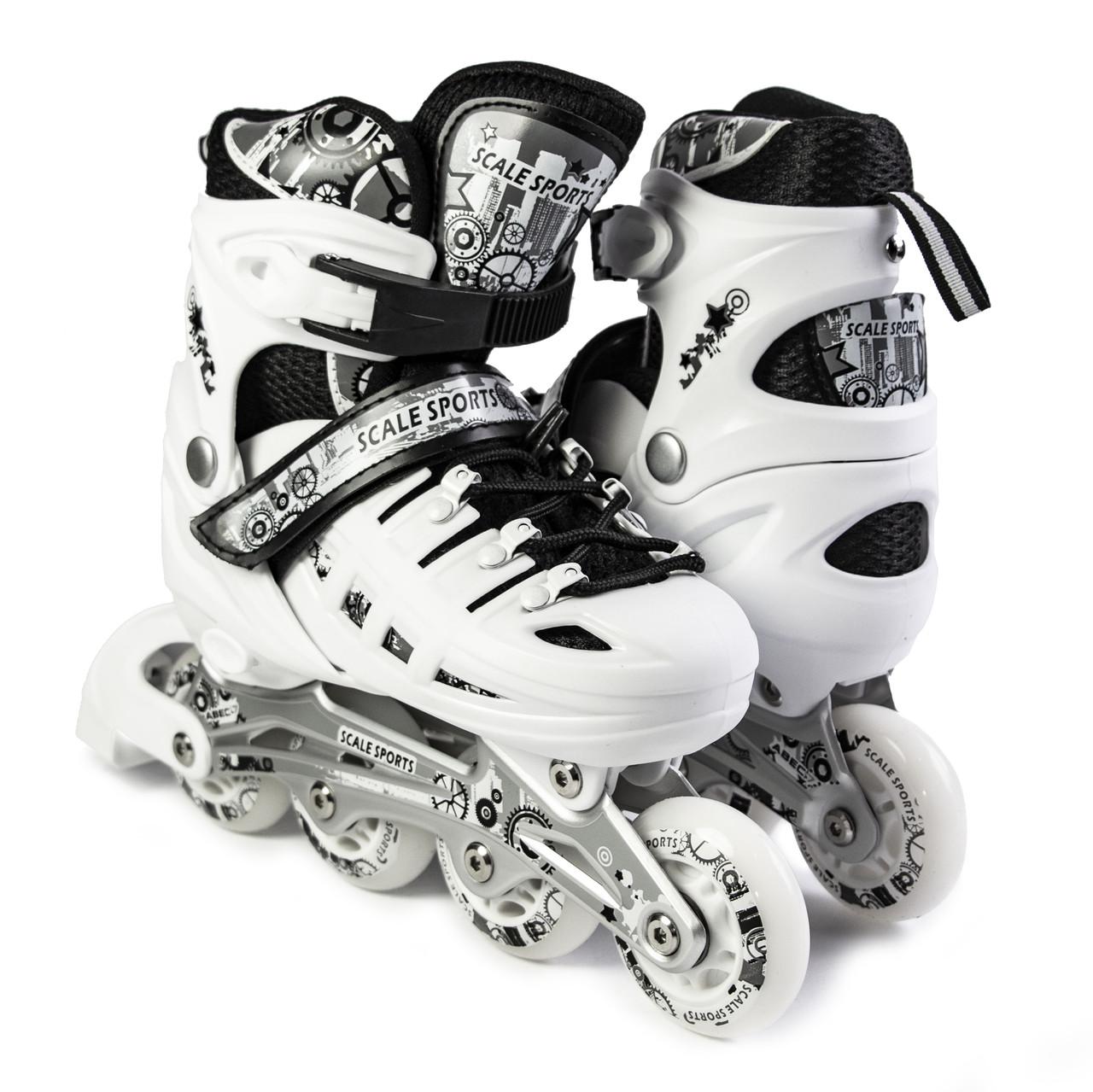 Ролики Scale Sports. White LF 905, размер 34-37