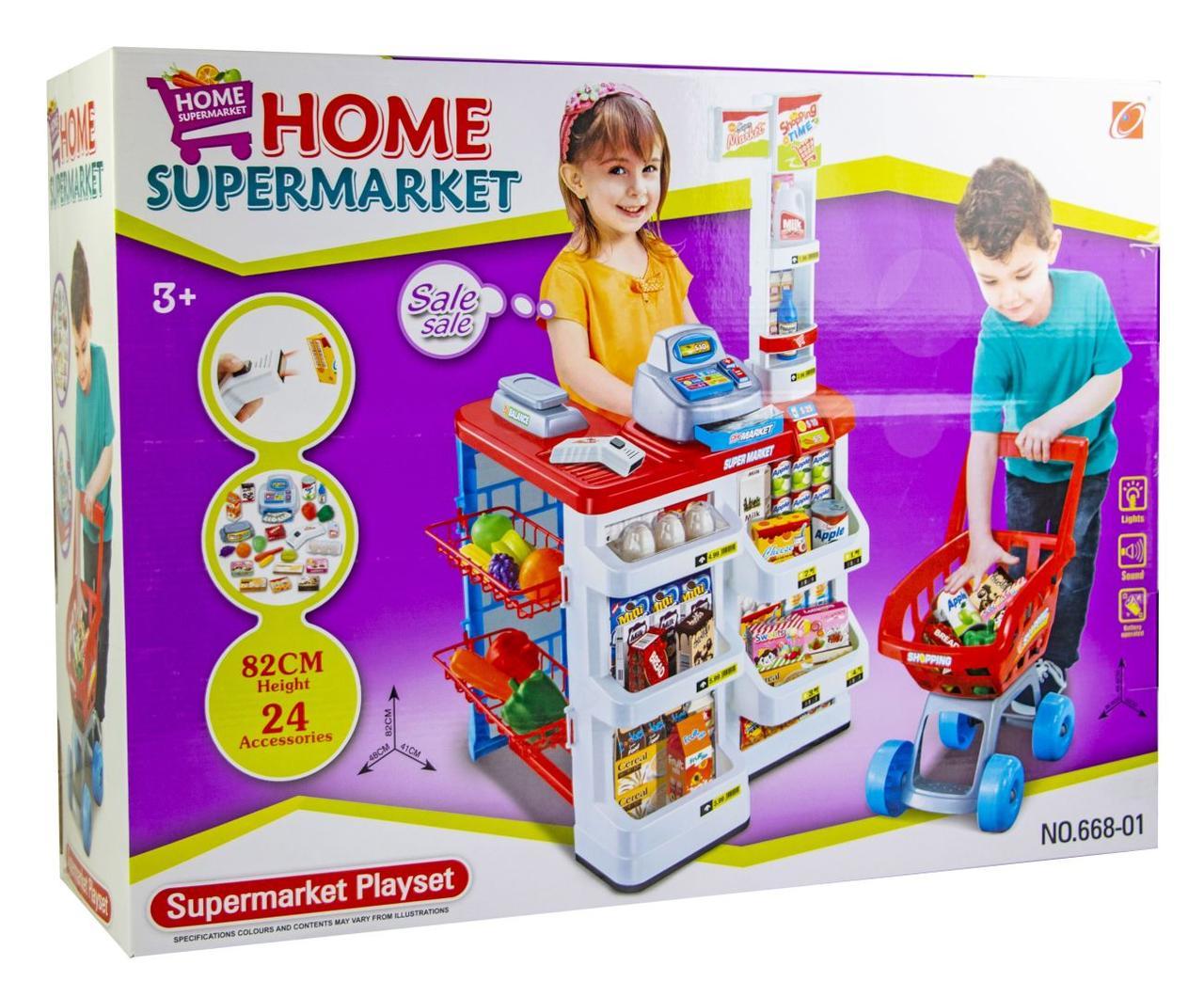 Набор Супермаркет с тележкой (668-01)