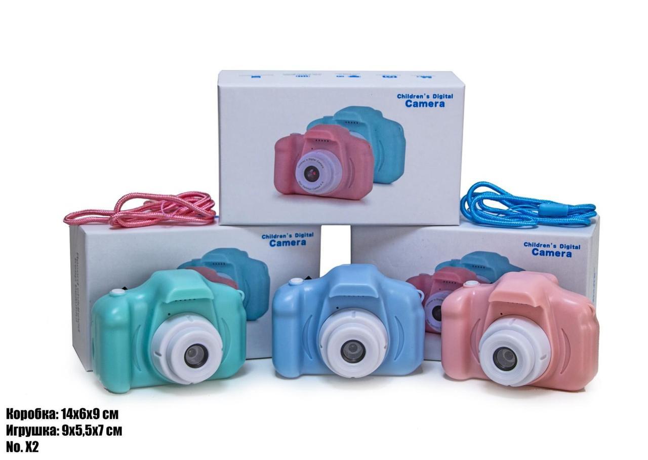 Дитячий фотоапарат X2 рожевий