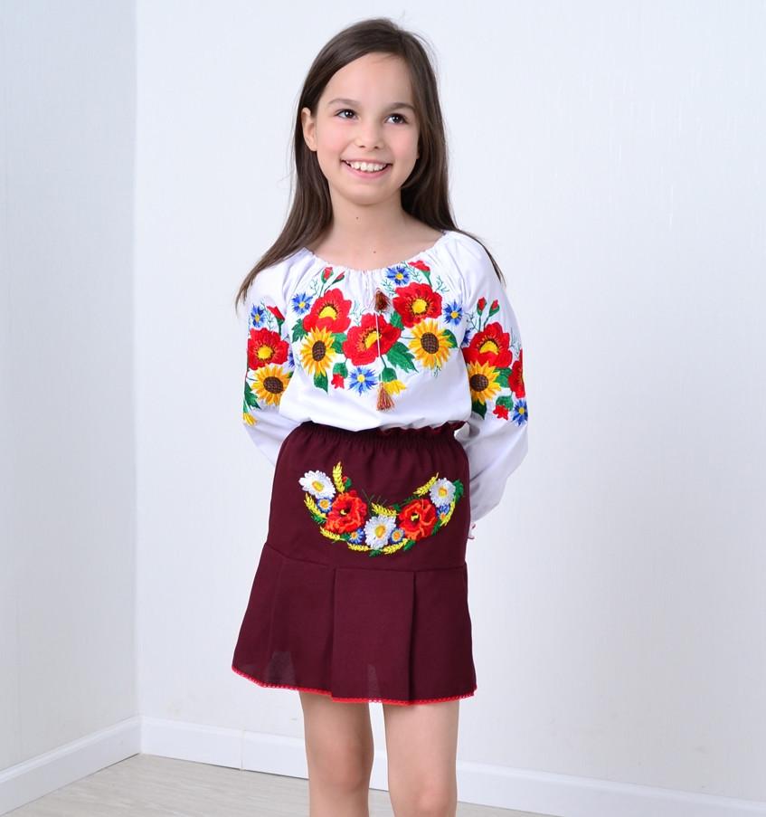 Вышитая детская юбка «Тропинка»