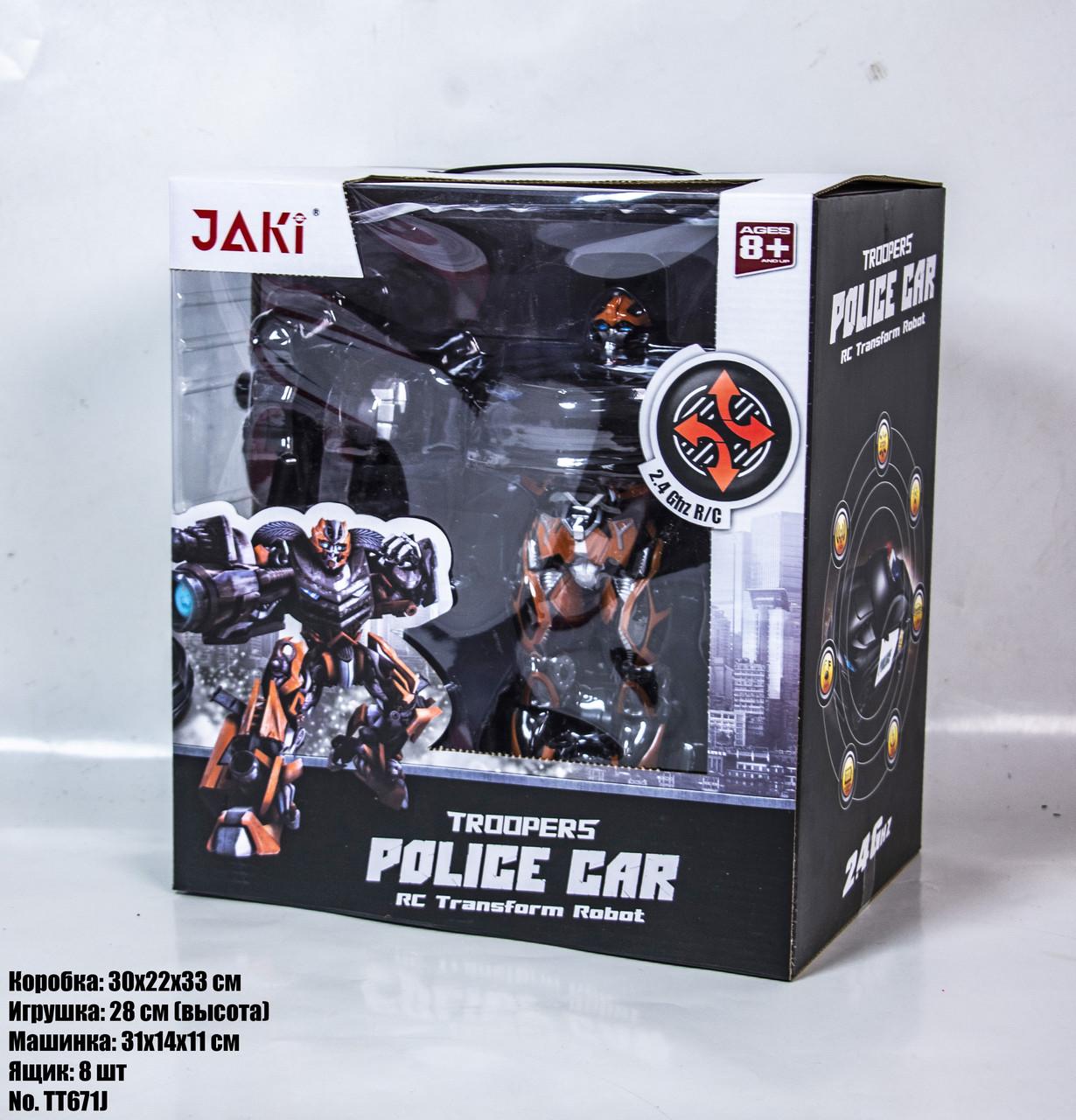Робот-трансформер JAKI POLICE CAR TT671J