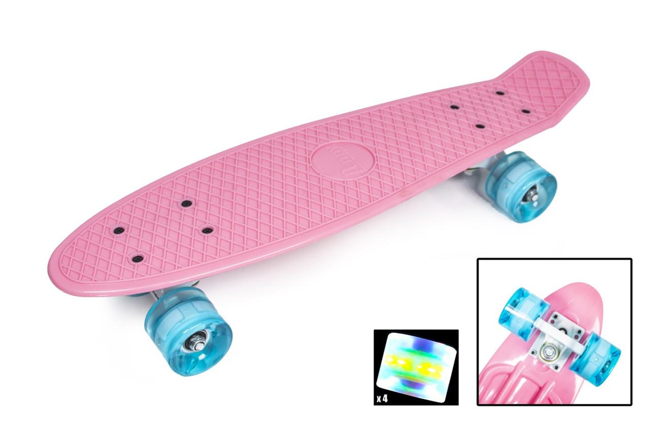 """Penny Board """"Pastel Series"""" Ніжно-рожевий колір. Світяться колеса"""