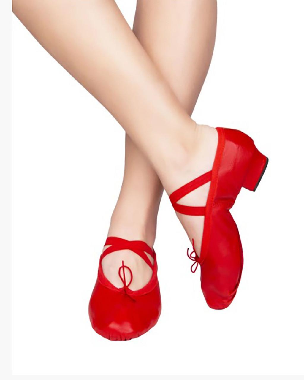 Туфлі шкіряні на підборах тренувальні Rivage line 1104 червоний, шкіра