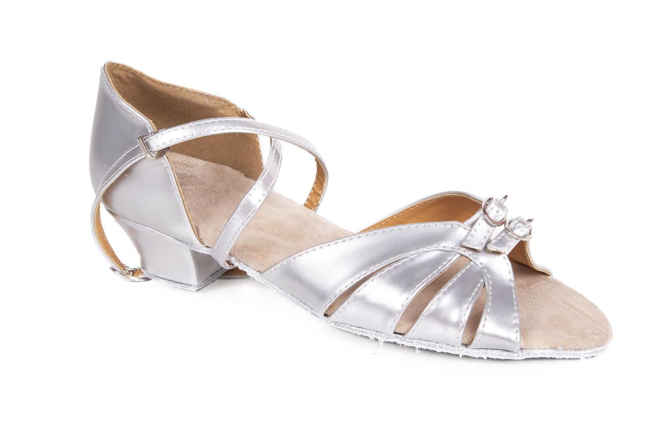 Туфлі для бальних танців дитячі срібло Rivage Line S100 D