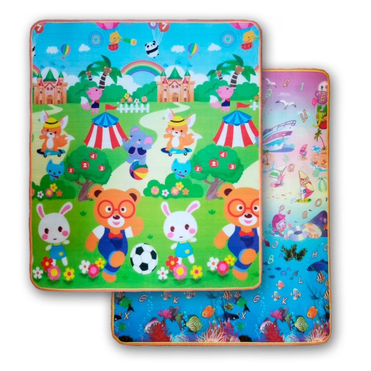 """Дитячий килимок """"Футбол - Акваріум"""" 1800x1200x5"""