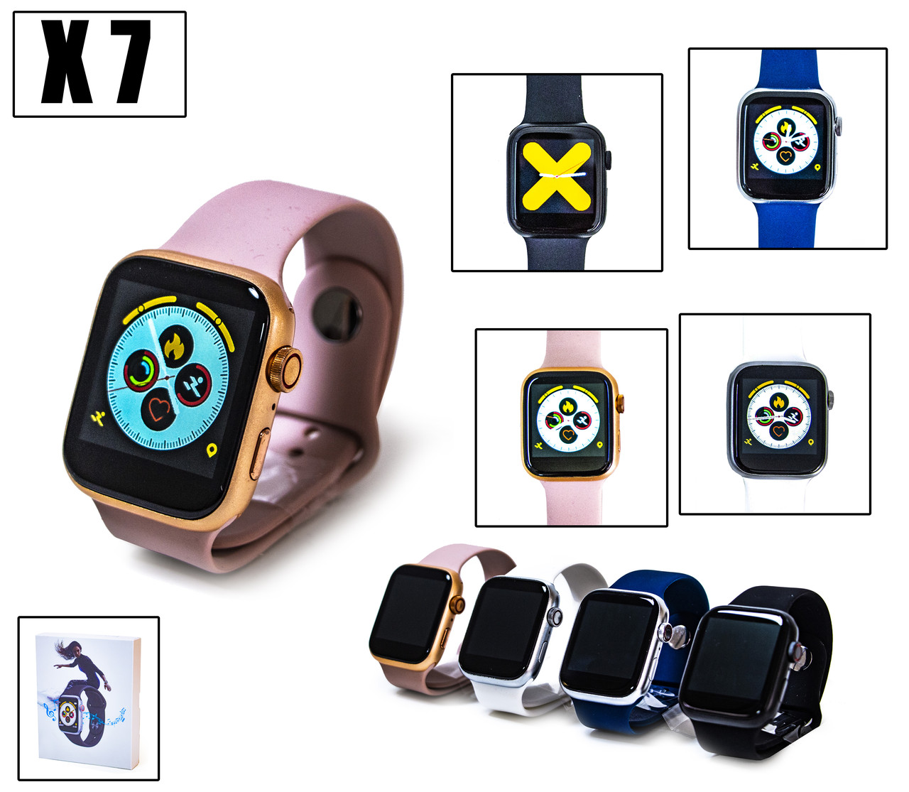 Умные Часы Smart Watch X7 Розовый
