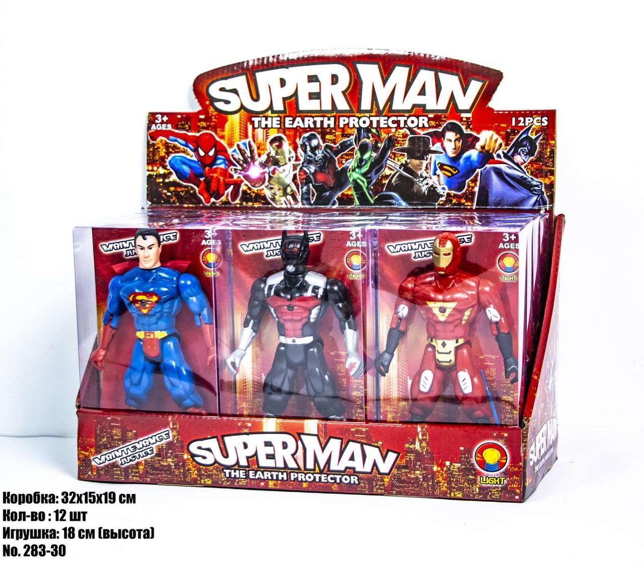 Герои SUPERMAN 283-30 (в блоке по 12 шт)