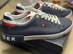 Оригинальные кеды кроссовки Tommy Hilfiger синие мужские размер 45-46