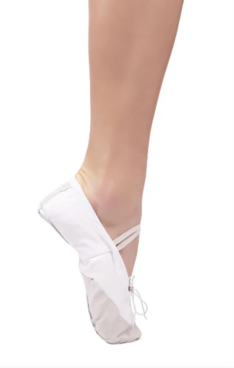 Балетки для танців Dance 025 з шкіряним носком Білий