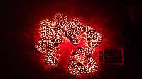 Светодиодная гирлянда сердечки 2 метра на батарейках красный, фото 1