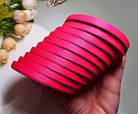 (10 рулонів) РЕПСОВА стрічка 0,6 см (10шт за ≈23 метри), ОПТ стрічка репс ультра рожевий (барбі), фото 1