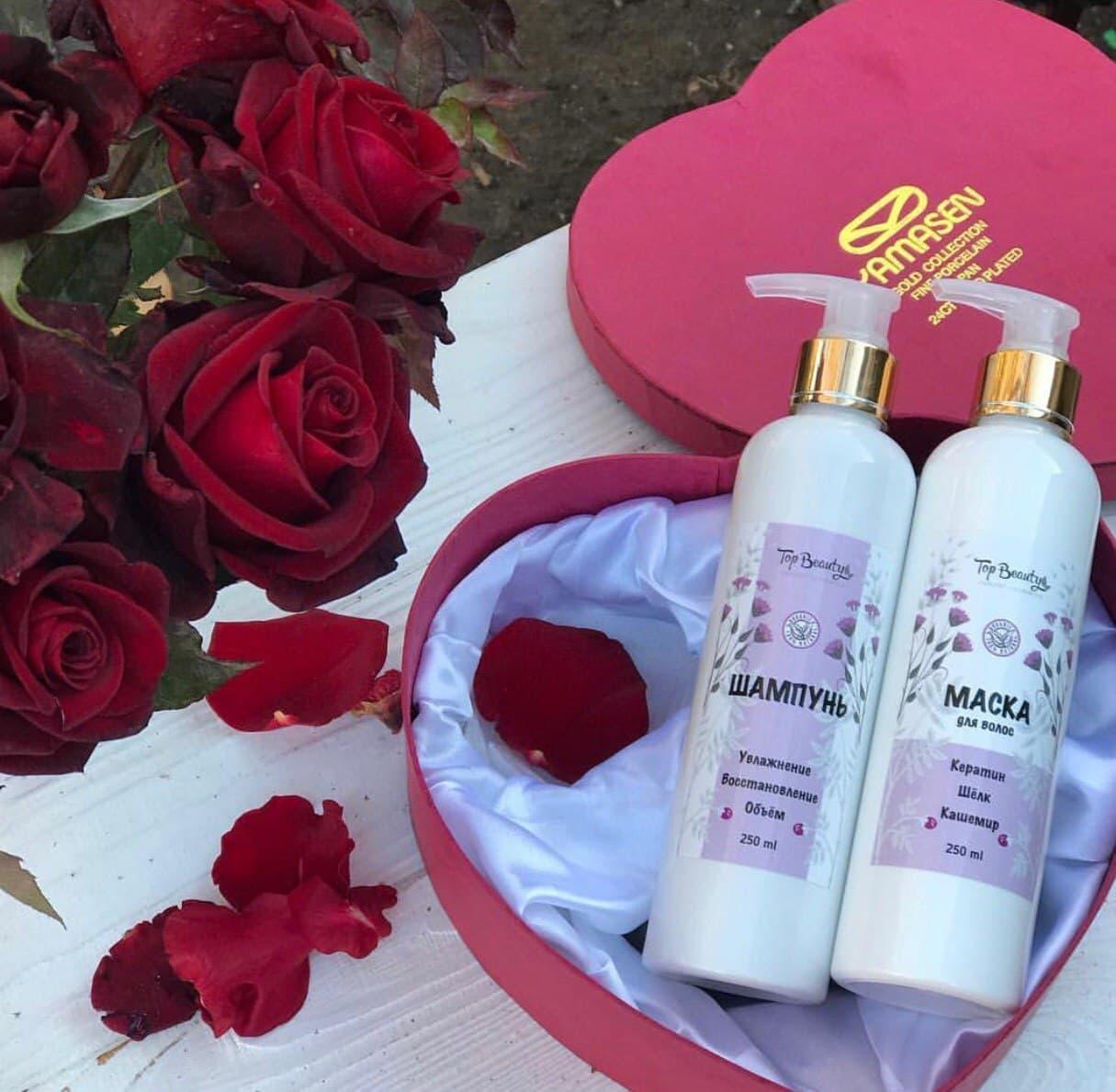 Шампунь для волос Top Beauty Кератин-Шёлк-Кашемир 250мл