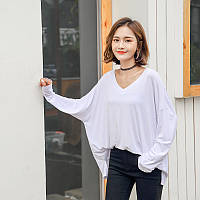 Лонгслив домашний женский Легкость, белый Berni Fashion (One Size)