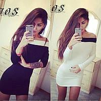 Мини-платье с открытыми плечами