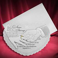 Приглашения на свадьбу в форме сердца, весільні запрошення (арт. 5364)