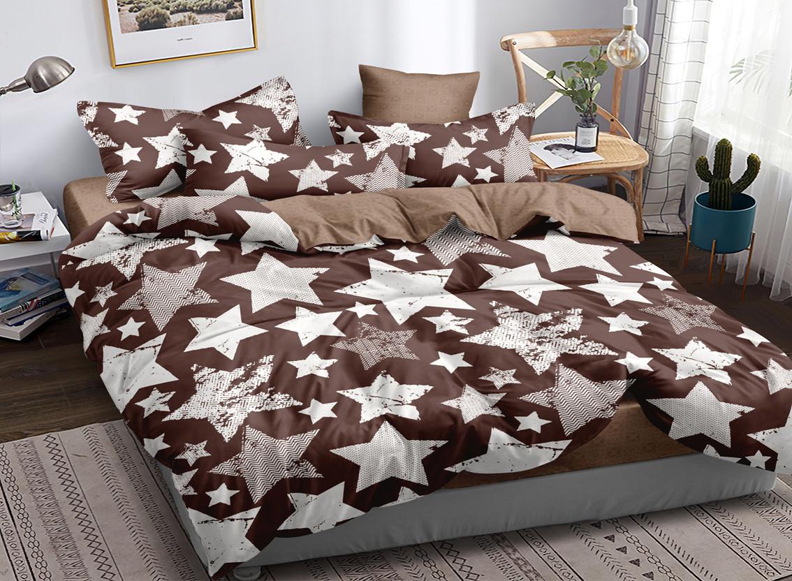 Двуспальный комплект постельного белья евро 200*220 сатин (16821) TM КРИСПОЛ Украина
