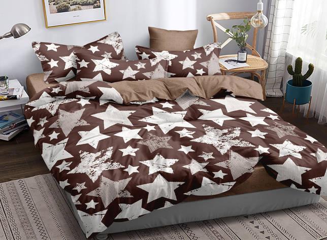 Двуспальный комплект постельного белья евро 200*220 сатин (16821) TM КРИСПОЛ Украина, фото 2