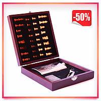 Мужской подарочный набор фляга с шахматами (ножом и зажигалкой)