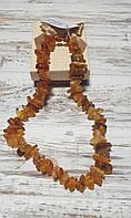 Бурштинове намисто з натурального великого бурштину (Україна), фото 1