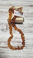 Янтарные бусы из натурального крупного янтаря (Украина)