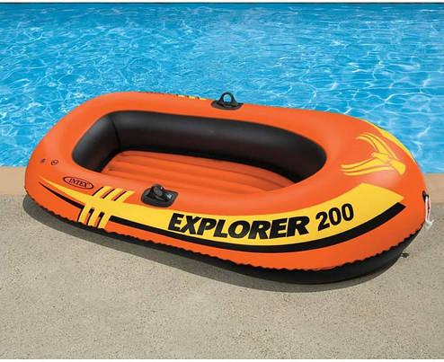 Полутораместная Intex надувний човен 58356 Explorer Pro 200, 196 х 102 см, фото 2