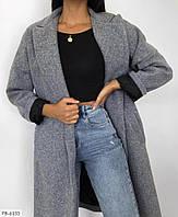 Женское зимнее кашемировое пальто на запах