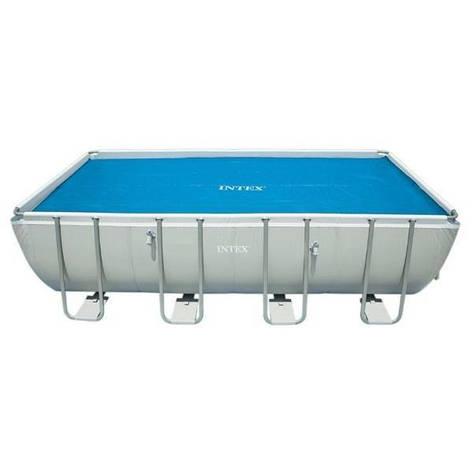 Теплозберігаюче покриття (солярна плівка) для басейну Intex 29028, 378 х 186 см (для басейнів 400 х 200, фото 2