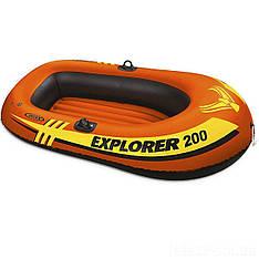 Полутораместная надувная лодка Intex 58330 Explorer 200, 185 х 94 см