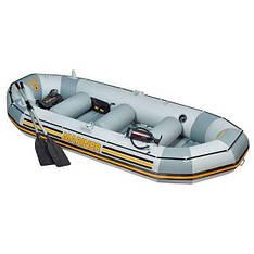 Четырехместная надувная лодка Intex 68376 Mariner 4 Set, 328 х 145 см, с веслами и насосом