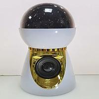 Ночник детский, Диско шар колонка музыкальная ночник звездное небо, подключается через Bluetooth