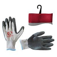 Перчатка белая вязанная синтетическая INTERTOOL SP-0121