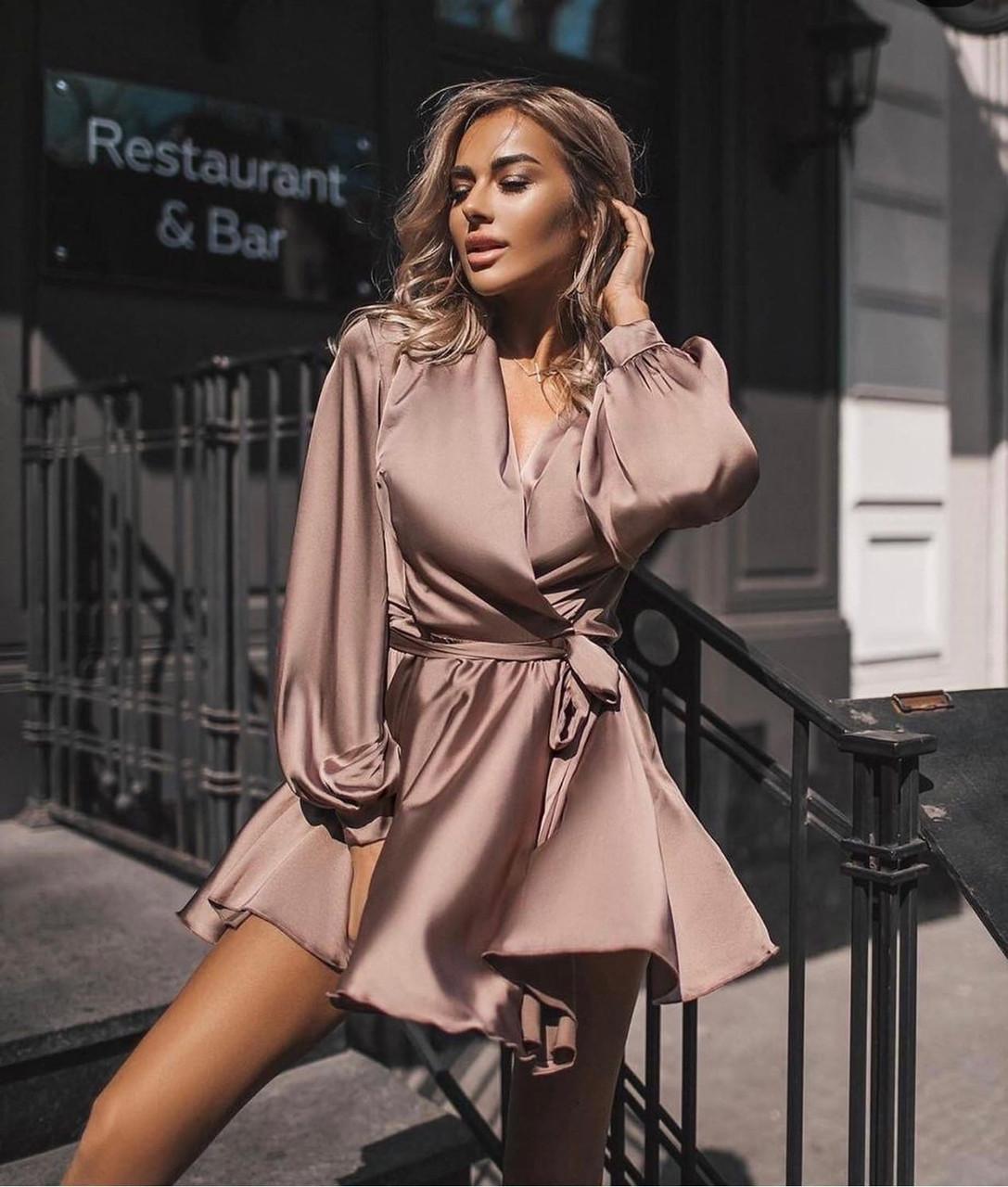 Стильное женское платье шелковое размеры 42 44 46  Новинка 2021 расцветки 3