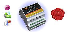 Умная GSM розетка терморегулятор (два реле по 16А) - 220В - SMS управление