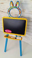 Доска для рисования магнитная, желто-голубой, мольберт Doloni toys 013777/1