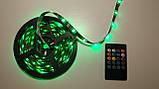 Светодиодная лента RGB с пультом, USB, 5м (5V/5050/RGB)(7373), фото 4
