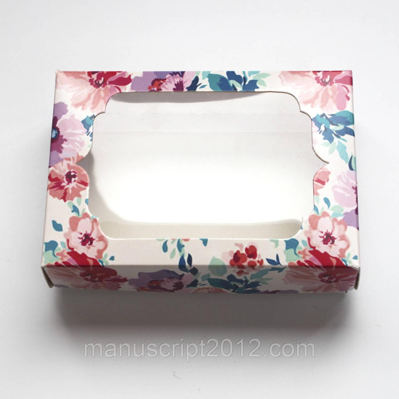 Коробочка для подарунків з вікном 130х90х35 мм.