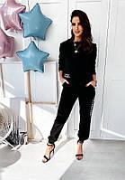 Женский прогулочный костюм на весну Flawless, S/M/L/XL, цвет чёрный