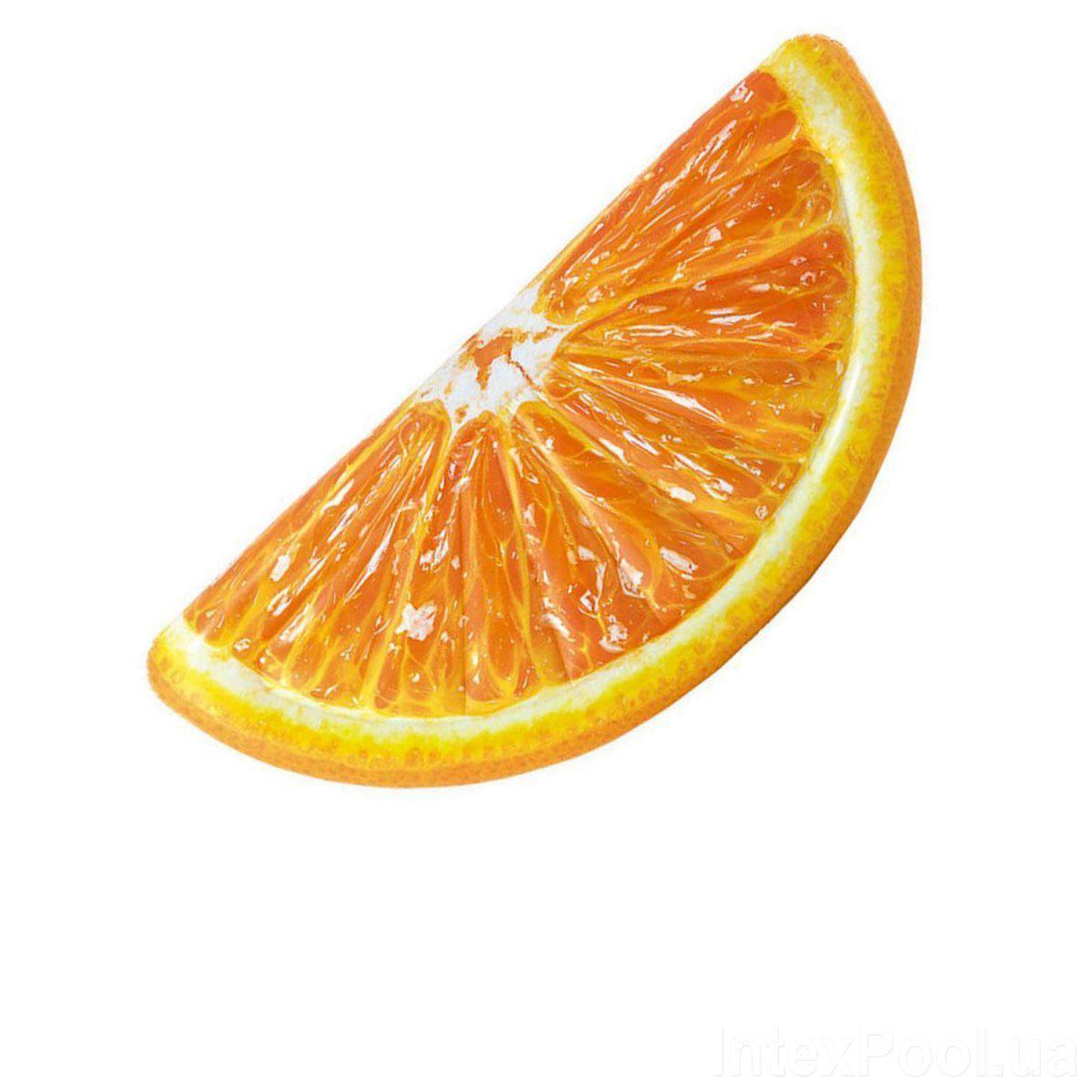 Пляжний надувний матрац Intex 58763 «Часточка Апельсина», 178 х 85 см