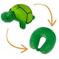 Детская дорожная подушка-игрушка рогалик трансформер 2-в-1