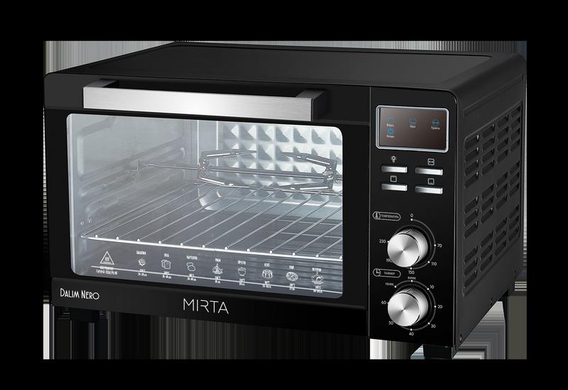 Электрическая духовка Mirta Dalim Nero MO-0143GB (ростерная)