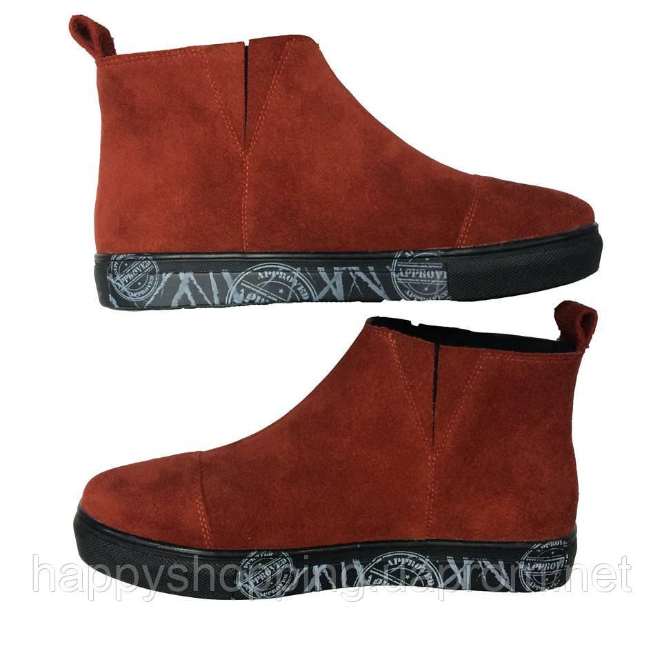 Красные ботинки HooS