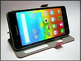 Розовый Silk SC чехол-книжка для смартфона Lenovo a5000, фото 3