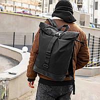 Ролл топ рюкзак мужской черный ROLLTOP, Стильный городской рюкзак  Ролл, Роллтоп рюкзак молодежный, рюкзак