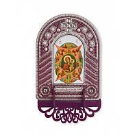 """Набір для створення ікони з вишитою рамкою-кіотом """"Богородиця Неопалима Купина"""""""