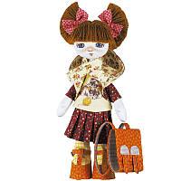 """Набiр для шиття ляльки  на льняній основі """"Першокласниця"""""""