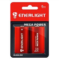 Батарейка ENERLIGHT MEGA POWER D (Бочка) АЛКАЛАЙН (БЛІСТЕР) 2 шт./бл 4823093503403