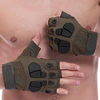 Відкриті тактичні рукавички SILVER KNIGHT YQS-3, M Оливковий