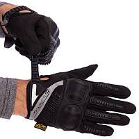 Тактичні військові чоловічі рукавички з посиленим протектором MECHANIX MPACT BC-4923 M Чорний