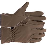 Рукавички для полювання, риболовлі і туризму теплі флісові TY-0354, M Оливковий