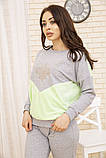 Костюм женский 167R27-1 цвет Серо-зеленый, фото 4